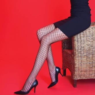 punčocháče LEGWEAR - Medium net - Black, LEGWEAR