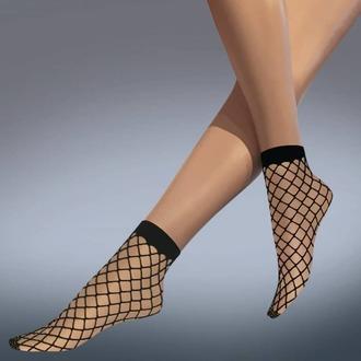 ponožky (punčochové) LEGWEAR - whale net ankle highs - black, LEGWEAR