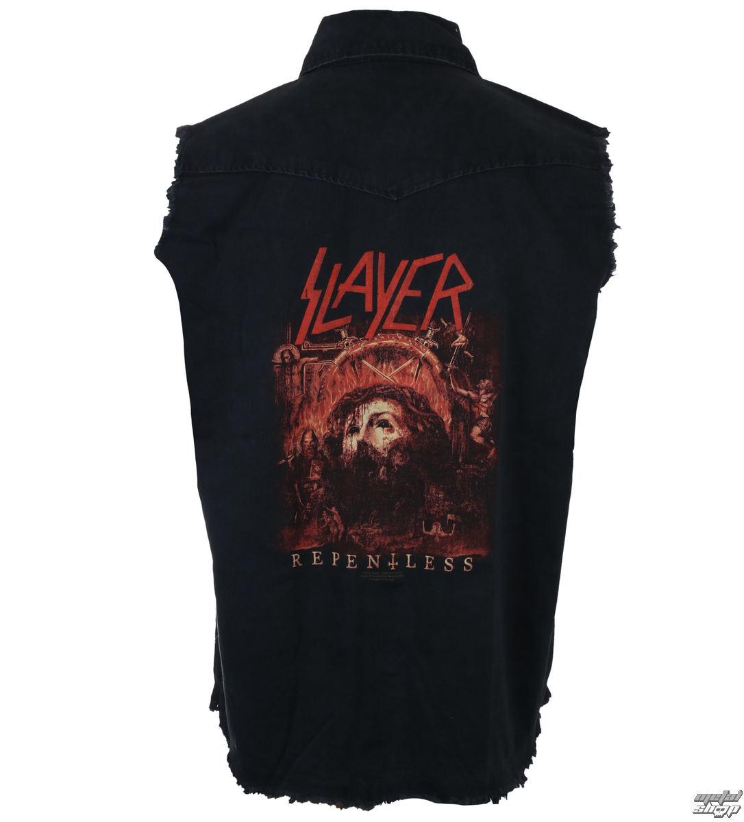 košile pánská bez rukávů (vesta) SLAYER - REPENT LESS - RAZAMATAZ